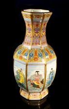 A Beautiful Chinese Hand Painted Eight Figures Vase