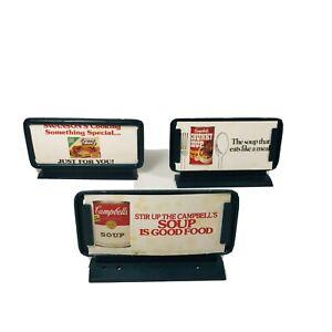 Vintage HO Lot of 3 Life-Like Campbell's Soup Advertising Billboards