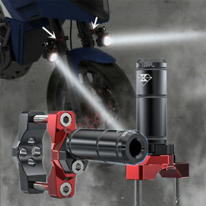 54mm CNC Motorcycle Fork Handle Bar Bracket Extension Post Clamp LED Light Mount