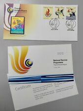 Royal Selangor Pewter Niobium Stamp FDC - 2004 National Service Programme PKN