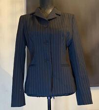 Adolfo Dominguez Ladies Pin Stripe Suit Jacket In Black EU 40 / UK 10