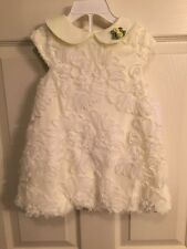 NWT - Infant Girls Special Occasions By Marmellata Cream Flower Dress, 24 Months