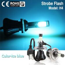 H4 9003 Ice Blue Car LED Light Driving Fog Bulb Switchback With Strobe Flashing