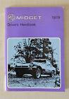 MG Midget 1979 Driver's Handbook Canada Edition Mark III MkIII (GAN6UL) AKM4390