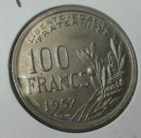 100 francs cochet 1957 B : SUP : pièce de monnaie française N21