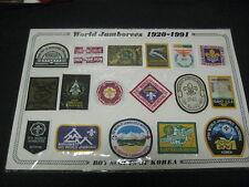 1991 World Jamboree Reproduction Jamboree patch set  j6