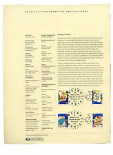 #3949-60 37c Holiday Cookies USPS #0526 Souvenir Page