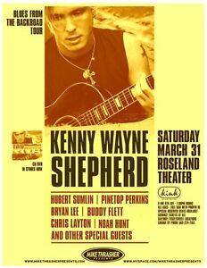 KENNY WAYNE SHEPHERD / PINETOP PERKINS 2007 Gig POSTER Portland Oregon Concert