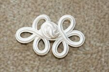 White  3 x 2 Silky Rayon Chinese Frog Closures