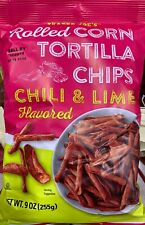 NEW TRADER JOE'S ROLLED CORN TORTILLA CHIPS CHILI & LIME FLAVORED 9 OZ BAG BUYIT