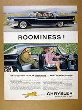 1959 Chrysler Windsor 4-door hardtop blue car photo vintage print Ad