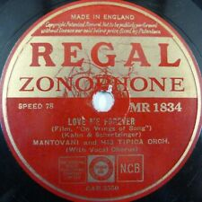 """10"""" 78rpm MANTOVANI love me forever / the world is mine tonight REGAL MR 1834"""