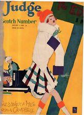 1928 Judge January 7 - Scotch Number; Harry Lauder; St. Andrews Golf; Dr. Seuss