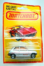 Matchbox SF nº 21c renault 5tl silvermetallic Orange discos top en Box