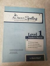 All About Spelling Level 1 Teacher's Manual by Marie Rippel