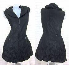 NEU Lange Weste Kleid Tunika Longshirt  Schwarz Gr 42 (R0260N) GLAMZ FRANSTYLE