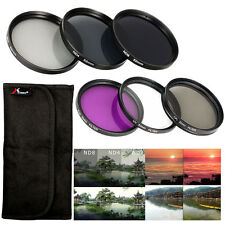 52mm UV CPL FLD ND Filter + Lens Hood Cap for Nikon D5500 D3300 D800 D600 LF133