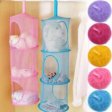Kids 3 Tier Compartment Net Hanging Storage Toy Bedroom Bathroom Organizer