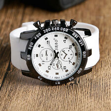 Mens Quartz Watches Fashion Multi-color Silicone Strap Military Sport Wristwatch