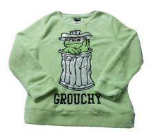 Sesame Street Oscar The Grouch Womens Sweater Pullover Sleepwear Size L Green