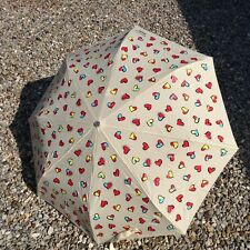 BNWTs Boutique MOSCHINO ivory multi hearts umbrella, sun protection UV 99%