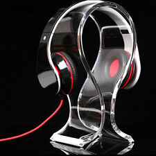 Acrylic Headset Holder Headphone Stand Earphone Desk Display Hanger Transparent