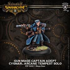 Warmachine: Cygnar Gun Mage Captain Adept Arcane Tempest Solo PIP 31028 NEW