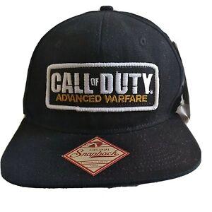 Men Black Snapback Hat CALL OF DUTY ADVANCED WARFARE Bioworld Video Game Cap NEW