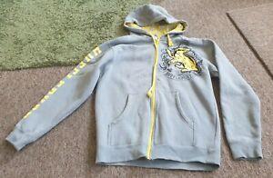 NWOT Universal Studios Harry Potter Hufflepuff full zip grey hoodie size S