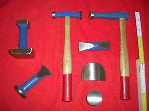 Ausbeul-Werkzeug-Hammer Handfaust Set Karosserie-Reparatur Blech-Hammer Oldtimer