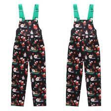 Kids Girls Toddler Suspender Romper Dungaree Jumpsuit Christmas Clothes Playsuit