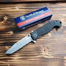 Smith & Wesson Special Tactical Tanto Combo Edge Folding Pocket Knife CKTACS