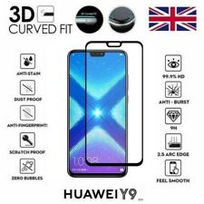 For Huawei Y9 (2019) Full 3D Tempered Glass 9H Screen Protector Cover Black Edge