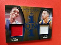 Stephen Curry GAME USED JERSEY Isiah Thomas 1 ON 1 CARD #d13/35 2020 LEAF ITG GS