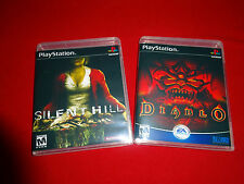 EMPTY REPLACEMENT CASES! Silent Hill + Diablo Sony PlayStation 1  PS1