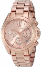 Michael Kors Women's Bradshaw Chrono 100m Rose Gold Tone S. Steel Watch MK5799