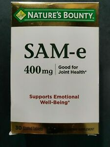 Nature's Bounty SAM-e 400 mg good for Joint Health 30 Coated Tablets