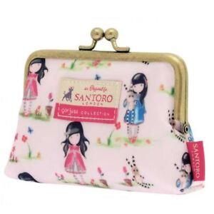 """Santoro Gorjuss 5"""" Clasp Purse - Pastel Pattern Print Ladybird Little Girl"""