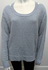 NWT $88 Michael Kors Pearl Heather Cold Shoulder LS Sweater Silver/Gray Size S