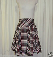 BEAUTIFUL CUE HIGH WAISTED BUBBLE HEM CHECKERED SKIRT AUS 10 (US 6)