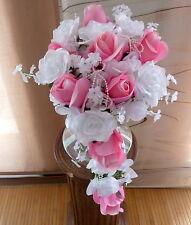 Brautstrauß Hochzeitsstrauß  rosa/ weiß Blumenstrauß Hochzeit