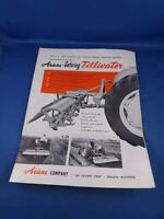 ARIENS GEHRING TILLIVATOR SALES BROCHURE FARM MACHINERY EQUIPMENT VINTAGE
