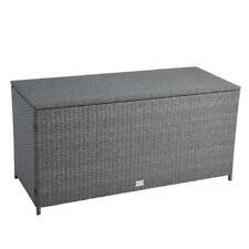 Auflagenbox Poly Rattan Kissenbox Gartenbox Aufbewahrungsbox Box Grau-Mix