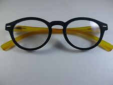 97ac00c4bd010 WITTY in ROUND Midnight Navy   Mango Soft Touch Spr Temple Reading Glasses  +3.00