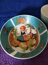 LITTLE RED RIDING HOOD Vintage Ornamin Melmac Bowl and Cup!