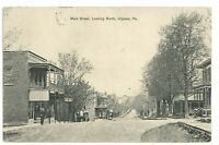 Main Street Early View ULYSSES PA Potter County Pennsylvania Vintage Postcard