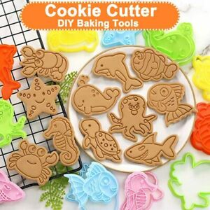 Cake Mold Fondant Biscuit Cookie Plunger Cutters Sugar Craft Decorating Tools