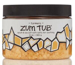 Indigo WIld TURMERIC ZUM TUB Shea Butter, Epson & Sea Salt Soothing Bath 12 oz.
