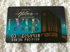 Vintage Hilton Casino & Resort Raised Letters Slot Card Atlantic City