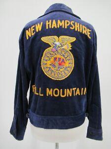 M9115 VTG National FFA New Hampshire Fall Mountain Corduroy Jacket Size 38